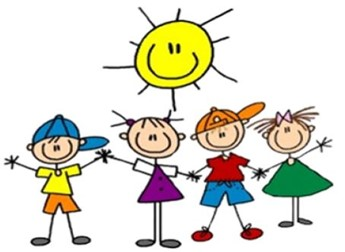 Kids and sun cartoon